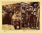 1920 Rotogravure WWI Military Soldiers Gas Mask Alarm W