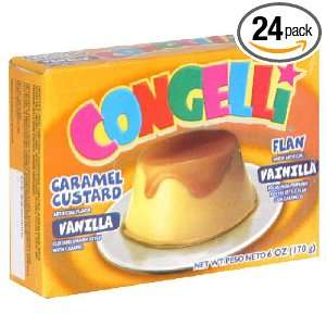 Con Geli Gelatin Flan, 6 Ounce (Pack of: Grocery & Gourmet Food