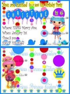 LALALOOPSY custom girl Birthday invitations party lala