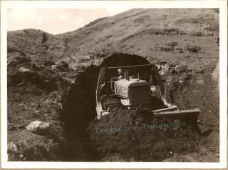 1930s WPA Allis Chalmers Bull Dozer Cutting Road Photo