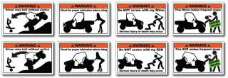 20 Pack Funny ATV Warning Stickers Decals King Quad 4x4