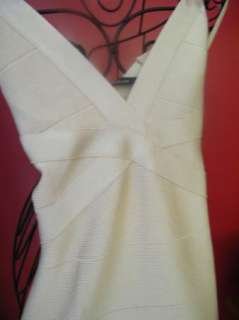 BEBE DRESS criss cross bandage one shoulder black 164876 xs