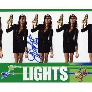 Lights Electro Pop Star Valerie Poxleitner Autographed