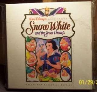 Disneys Snow White 37 LASERDISC LD Box Set Deluxe CAV SP ED