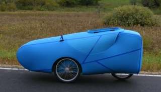 Rover Velomobile   Very light weight   Recumbent trike  Full Fairing