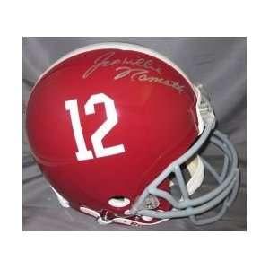 Joe Willie Namath signed Alabama Crimson Tide Pro Line helmet