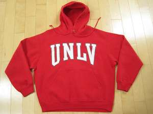 DUTY 90s vintage UNLV hoodie SWEAT SHIRT las vegas NCAA LARGE