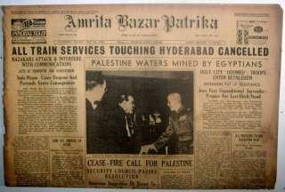 India 1948 Amrita Bazar Patrika News Paper Paper#gp4