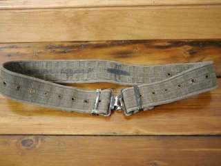 Vintage Army Military Cotton Web Ammo Heavy Duty Metal Buckle Utility