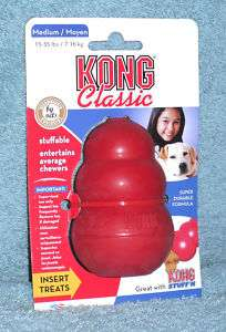 Classic Red Kong Dog Chew Toy Medium T2 fast ship L@@K