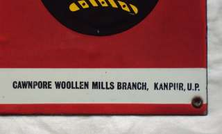 LAL IMLI & Unico Fabrics Porcelain Enamel Sign c1940s