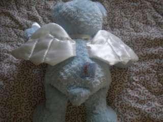 Baby GUND God Bless Baby Blue Angel Teddy Bear Lovey Stuffed Animal