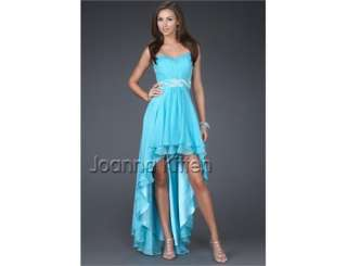 FOR New Elegant Bridal Evening Prom Womens Dress Blue USA 4