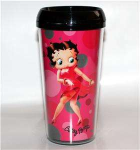 BETTY BOOP King Features CARTOON Character 16 oz Unisex PLASTIC TRAVEL