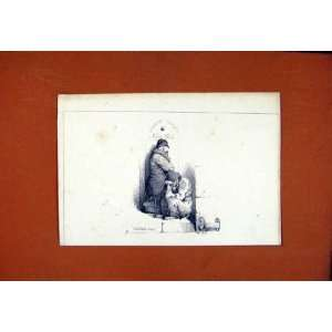 Fine Art Sketch Drawing Dog Hound Pet Animal C1831: Home