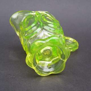 Antique Vaseline Uranium Glass Cream Jug b1