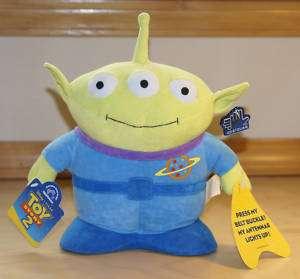 Disney Pixar Toy Story   3 Eyed Alien 10 Plush Toy w/ Tags   Antenna