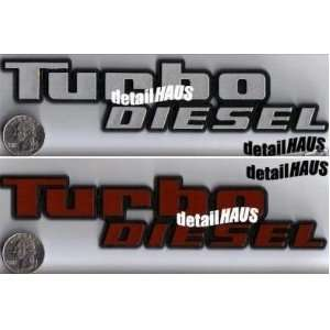 TURBO DIESEL BADGE EMBLEM FOR VW JETTA GT CHEVY GMC FORD GM