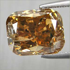Untreated 1.20 Cts Fancy Champagne Brown Natural Loose Diamond Radiant