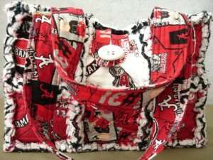 CUSTOM MADE RAG QUILT PURSE KIT~UNIVERSITY OF ALABAMA