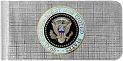 Enamel United States USA Presidential Seal Money Clip
