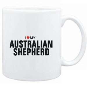 : Mug White  I love my Australian Shepherd  Dogs: Sports & Outdoors
