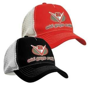 Old Guys Rule V8 Revved And Ready Mesh Cap: Sports