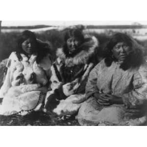 1929. Selawik women. Three Eskimo women, full length