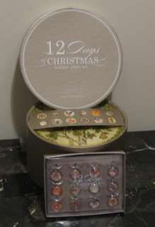NIB Pottery Barn 12 DAYS of CHRISTMAS Plates +BONUS