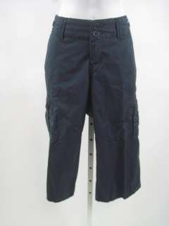 TWILL TWENTY TWO Navy Blue Cropped Cargo Pants Sz 28