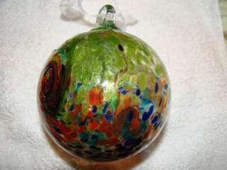 FRIENDSHIP BALL HAND BLOWN GLASS Christmas Ornament