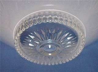 1930s Art Deco Glass Ceiling Light Shade 10 in Bead Chain Diffuser
