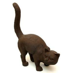 Large Cast Iron Cat Doorstop Rust Tracy BACKORDERED