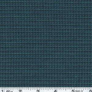 64 Wide Wool Blend Knit Mini Check Teal Fabric By The