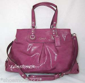 398 COACH ASHLEY Patent Leather Large Carryall Satchel Tote Purse