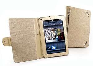 Tuff Luv Hemp case cover for  Kindle Fire (Book Style)   Desert