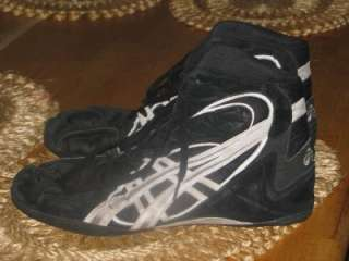 ASICS Mens WRESTLING Martial Arts Shoes Black Suede SIZE 14
