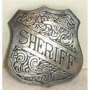Obsolete Sheriff Copper Old West Police Badge