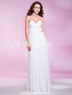 Strapless Pleated Evening dress Prom dress Wedding party dress