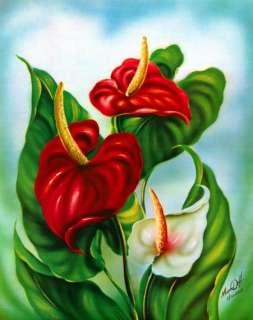 Anthurium Hawaiian Tropical Flower Floral Botanical Hawaii Print