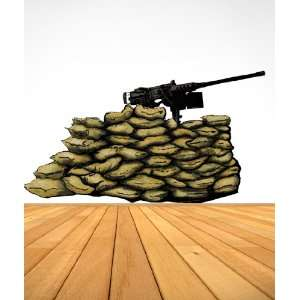 Vinyl Wall Decal Sticker Gun 50 Caliber Nest Army Military