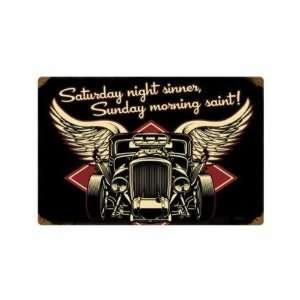 Metal Sign Hot Rod Car Shop Garage 12 X 18 Not Tin