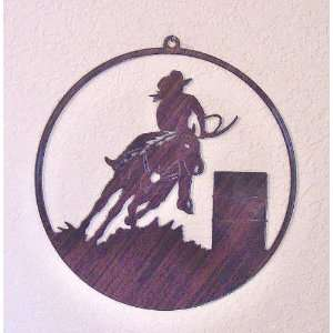 Window Art Hanging   Barrel Racer and Horse   Laser Cut