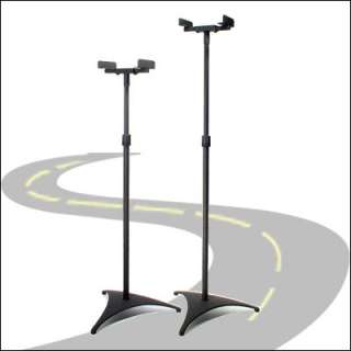 Audio Research Adjustable Surround Speaker Stands BLACK