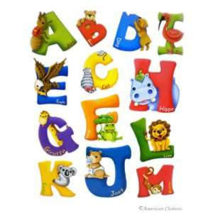 Kids Baby Room A M Letters Alphabet Wall Mural Sticker
