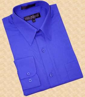 DANIEL ELLISSA~ SOLID ROYAL BLUE COLLAR SHIRT~4XL