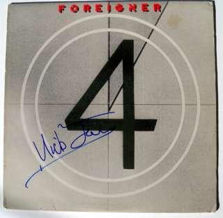 Mick Jones Foreigner Autographed Signed Record Album LP