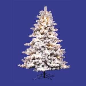 6.5 x 53 Flocked Mesabi Tree 500 Multi Lights