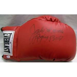 Jake LaMotta Boxing Glove Autographed