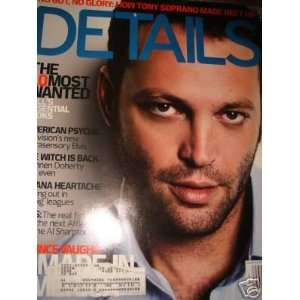 Details Magazine Back Issue August 2001 Vince Vaughn Cover: Books